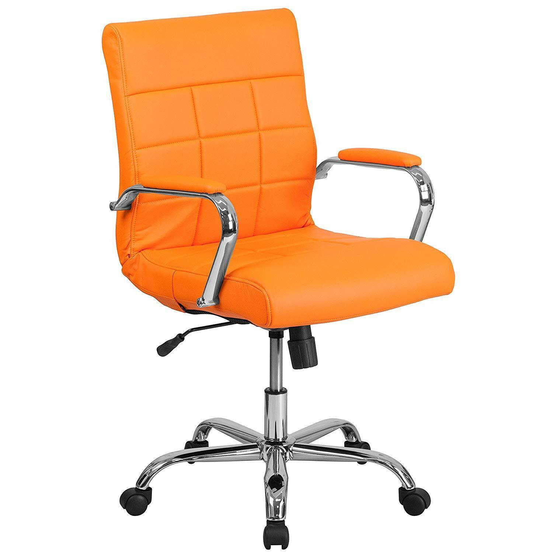 Orange Office Chair Retro Furniture Desk Executive Gaming Qu