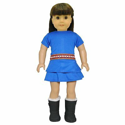 Doll Clothes Blue Gypsy Outfit Doll Fits American Girl & Other 18 Inch Dolls
