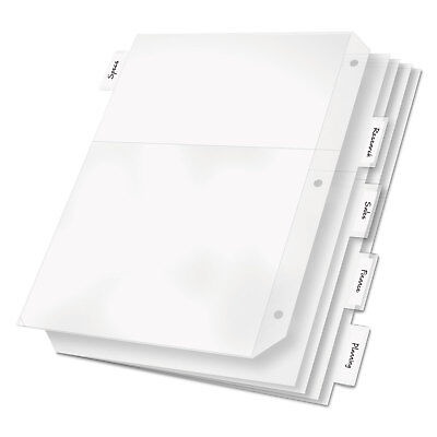 Cardinal Poly Ring Binder Pockets 11 X 8 12 Clear 5pack 84010