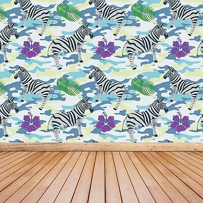 Einfach Zebra (Fototapete Selbstklebend Einfach ablösbar Mehrfach klebbar Graue Zebras)