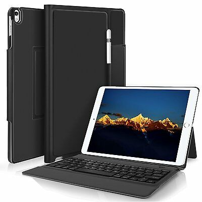 (Apple ipad Pro 12.9 2017 Bluetooth Keyboard Case Pencil Holder Stand Folio Cover)