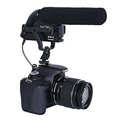 Movo VXR5000 HD Condenser Prosumer Video Microphone for DSLR Camera (Aluminum)