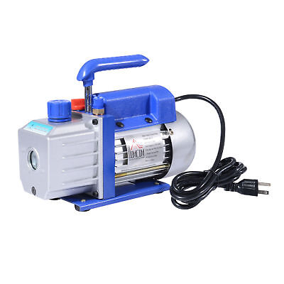 New HomCom Single Stage 4CFM 1/3HP 5pa Vacuum Pump Rotary Vane Deep Air Tool