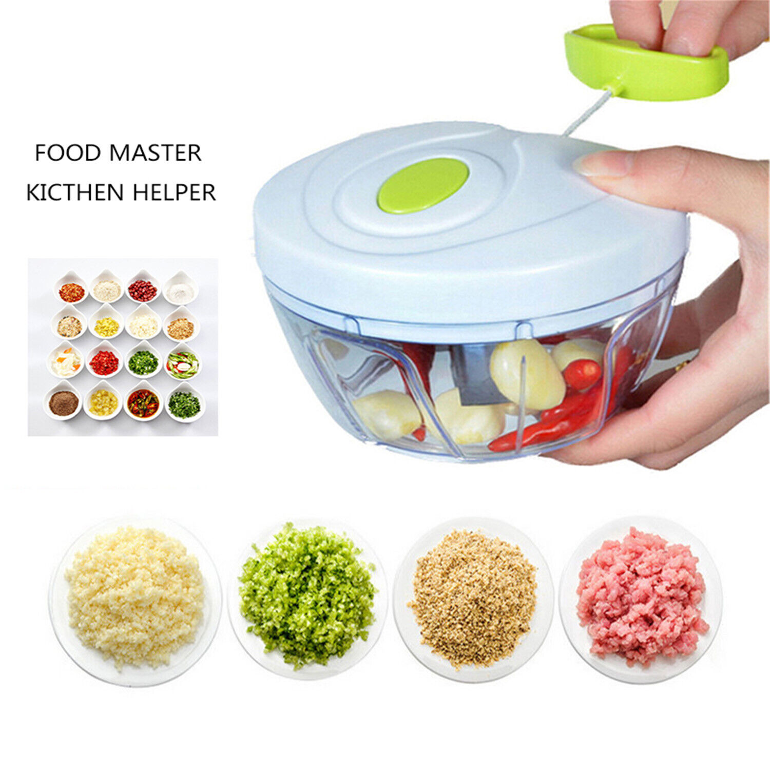 Fruit Vegetable Onion Garlic Cutter Food Speedy Chopper Spir