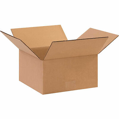 10 X 10 X 5 Flat Cardboard Corrugated Boxes 65 Lbs Capacity Ect-32 Lot Of