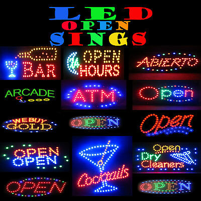 Animated Neon Open Led Signs For Business Indoor Use Flashing Motion Display