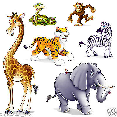 ZOO Safari Rainforest Party JUNGLE ANIMAL Animals Wall Decoration ADD ON PROPS - Safari Decorations