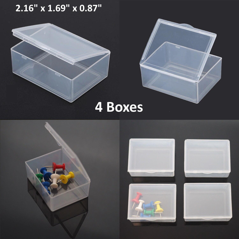 3PCS Small Plastic Storage Container Box DIY Coins Screws Ch