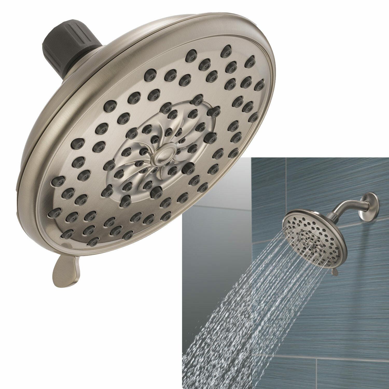 Peerless Faucet 3-Spray Deluxe Shower Head Bath Fixture in Satin Nickel Bath