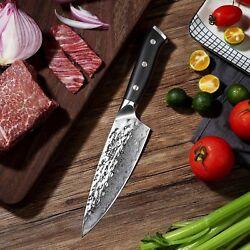 6.5 damascus steel chef knife new design kitchen knife carbon steel meat slicer
