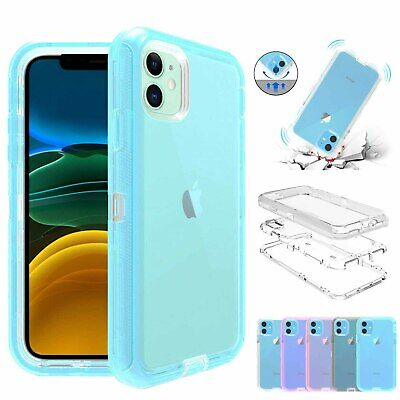For iPhone 11 Pro/11 Pro Max Hybrid Transparent Case Shockproof Rugged Cover