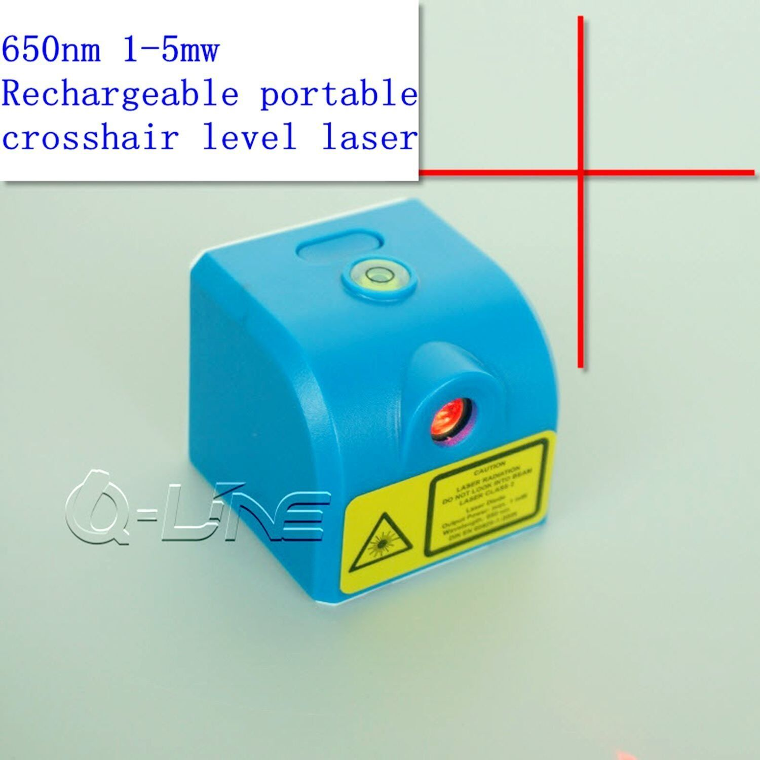 650nm 1mw-5mw Red Cross Laser Module 3.7V w/ USB & Rechargea