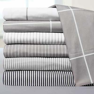 Classic Stripe Sheet Set (Loft Collection Modern Classic Pinstripe 6-Piece Sheet Set )