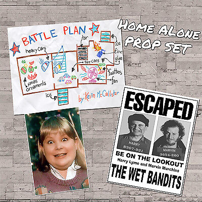 Home Alone Movie Props Wet Bandit Wanted Buzz Girlfriend Battle Plan Harry Marv - Buzz Home Alone