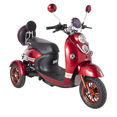 Electric Mobility Scooter 3 Wheeled Red 60V100AH 800W GREEN POWER ROAD LEGAL
