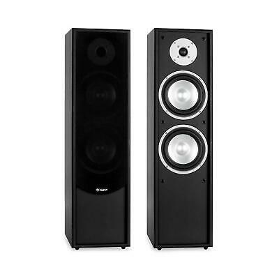 2X ALTAVOZ TORRE PIE HIFI 80W RMS FRONTAL HOME CINEMA AUDIO TV CINE MUSICA NEGRO