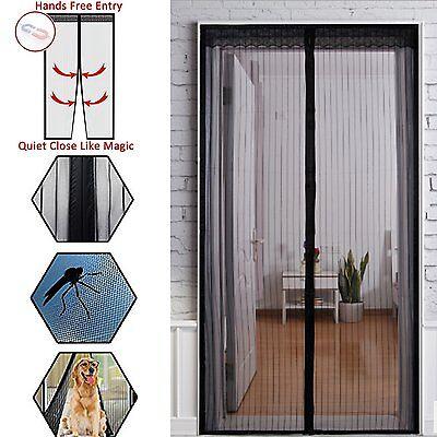 90x210cm Fliegengitter Insektenschutz Magnet Mückenschutz Moskitonetz für Tür