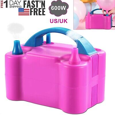 Electric Balloon Pump 600W Balloon Blower Inflator Dual Nozzle For Party Wedding](Party Balloon Pump)