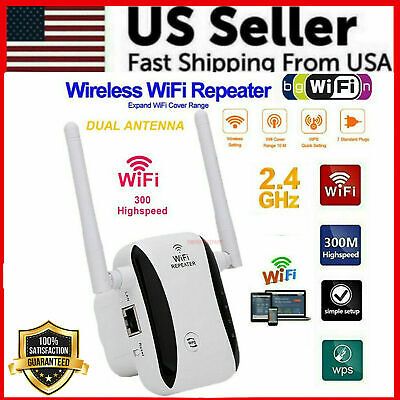 Wireless WiFi Range Extender Internet Booster Network Router Signal Repeater USA