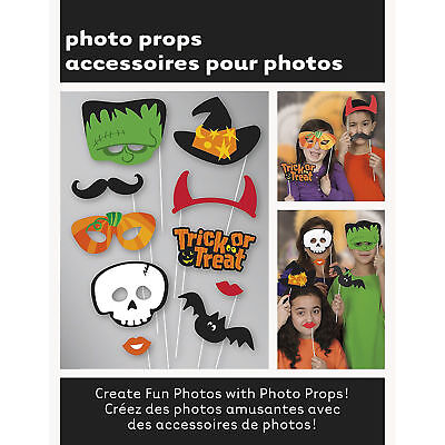 HALLOWEEN PARTY PHOTO BOOTH PROPS DECORATIONS SKULL BAT MASK WITCHES HAT CUTOUTS ()