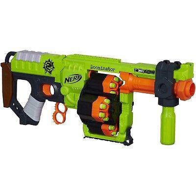 Nerf Zombie Strike Doominator Blaster W  Scope Upgrade And 50 Extra Bullets