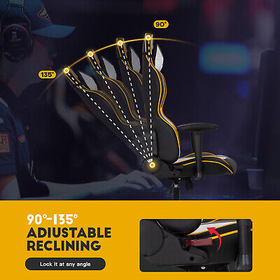 Gaming Chair Racing Office Chair PC Computer Chair with Lumbar Support Headrest Business & Industrial