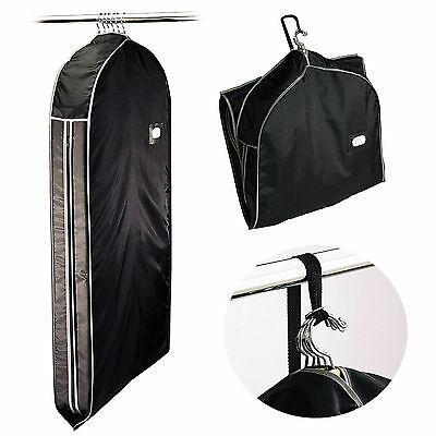 NYLON ZIPPERED Travel Garment Bag CARRY SUITS DRESSES JACKET CLOTHING GARMET USA Carry On Garment Bags