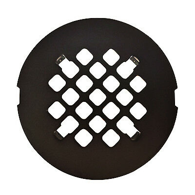 Oil Rubbed Bronze Round Snap-In Shower Drain Grate 4 1/4″ Replacement Cover Bath