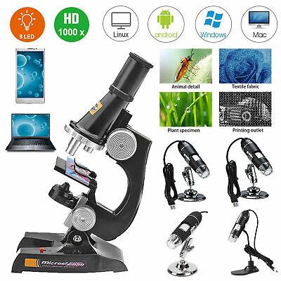 40x-1600x Digital Microscope Camera 8 Led Usb2.0 Magnification Endoscope Stand