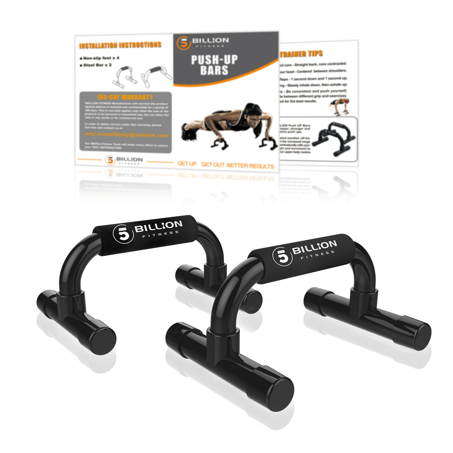 Push Up Bars Exercise Stands Gym Home Grip Sponge Hand 1 Pair Set Training Kit
