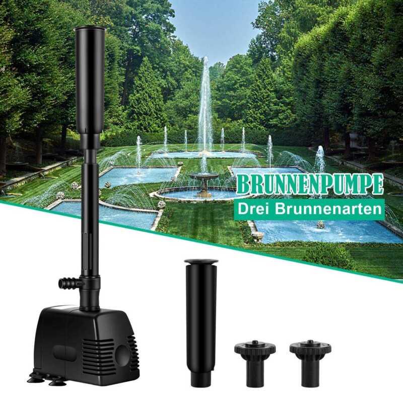 3 IN 1 Aquarium Tauchpumpe Wasserpumpe Gartenpumpe Wasserfilter 8-45W 3000L//H