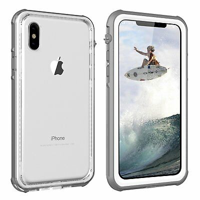 WATERPROOF LifeProof Style iPhone X Case [WHITE/CLEAR] *ShockProof* *SnowProof*