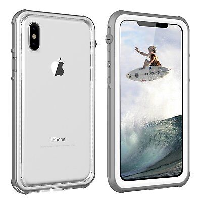 WATERPROOF LifeProof Style iPhone X Case [WHITE/CLEAR] *ShockProof* *SnowProof*