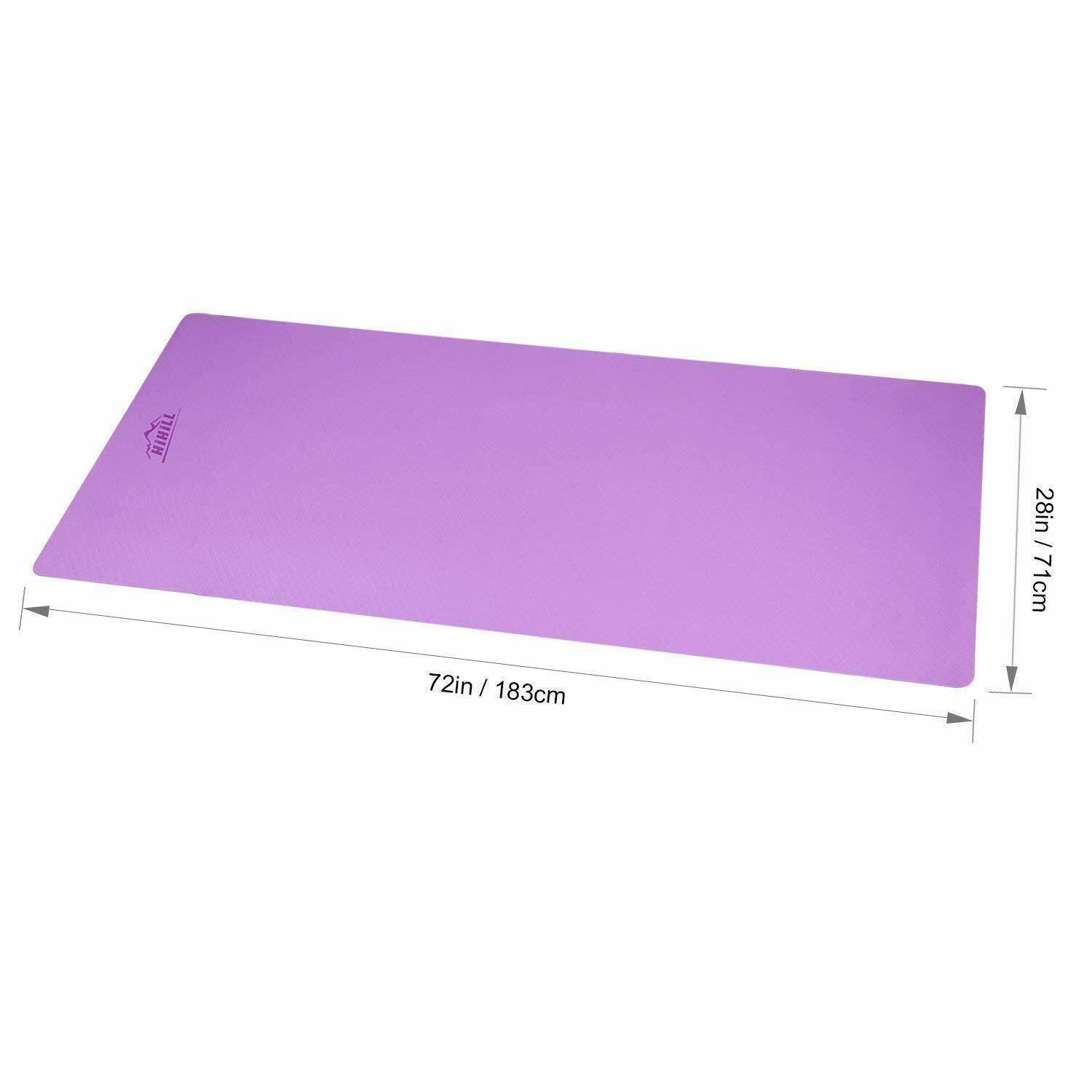 HiHill Yoga Mat, -TPE Non Slip, High Density, with Carry Bag (YG-M1, Purple) 3