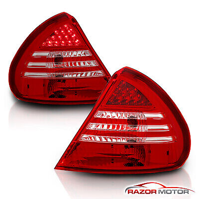 4dr Red Clear Led - 1999-2002 Mitsubishi Mirage DE/LS/ES 2/4DR Red Clear LED Tail Lights Lamps Pair