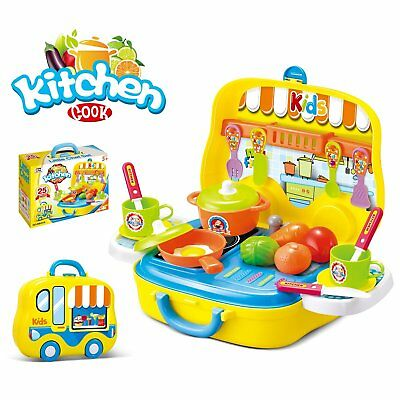 Pretend Play Kitchen Set for Children Includes Carrying Case - Best Gift for