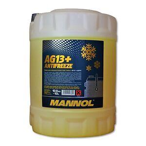 10 (1x10) Liter MANNOL Kühlerfrostschutz AG13+ für G11/ SAE J1034, MB 325.2