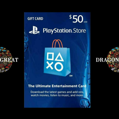 $50 PSN Digital Card - Playstation Network $50 USD PS4 PS3 - US Gift Card [US]