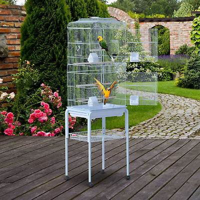 "63"" Large Pet Bird Cage Play Top Parrot Finch Macaw Cockatoo w/Wheels New"
