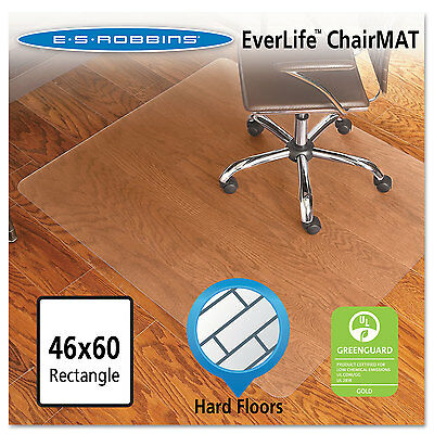 Es Robbins 46x60 Rectangle Chair Mat Economy Series For Hard Floors 131826