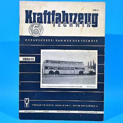 DDR KfT Kraftfahrzeugtechnik 11/1952 Neuhaus-Schierschnitz Leipziger Messe