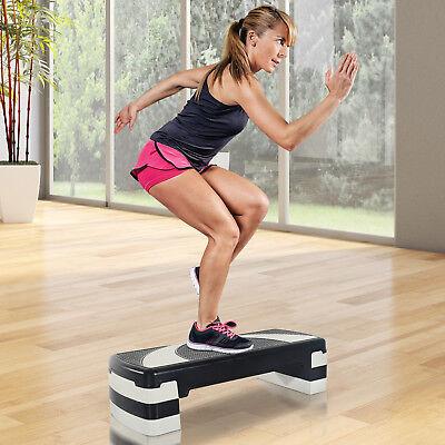 HOMCOM 3 Level Aerobic Stepper Step Adjustable Block Board Training Yoga Fitness