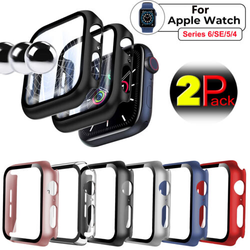 2x For Apple Watch Series 6/SE/5/4 40/44mm Full Screen Protector Cover Hard Case