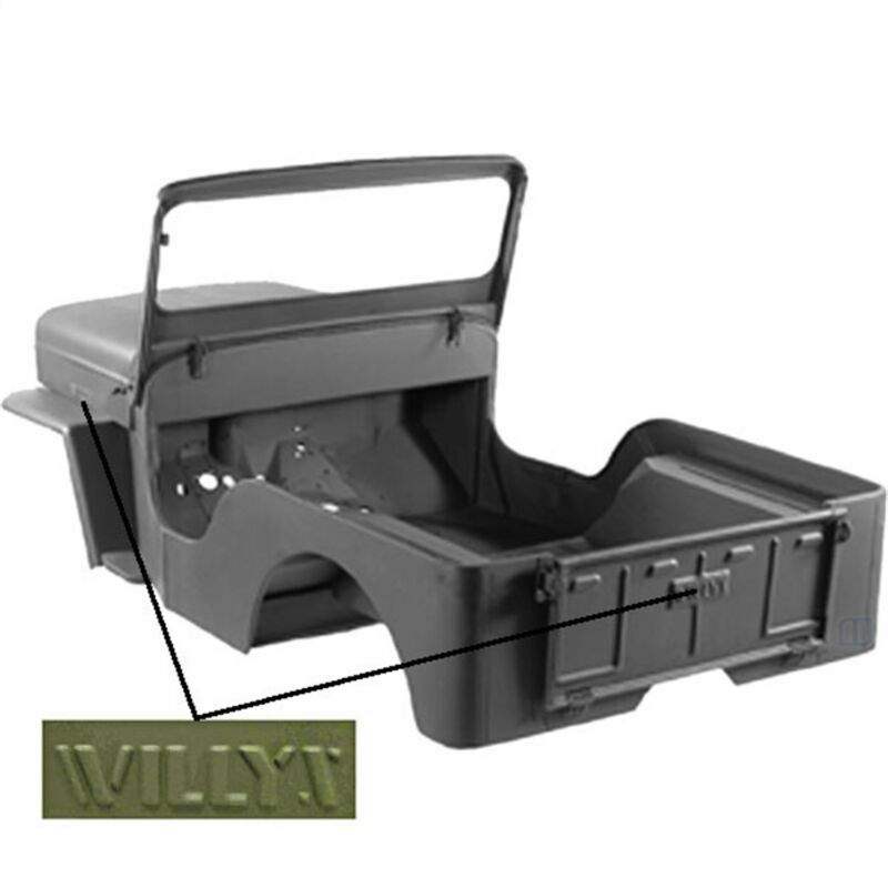 Body Tub OMIX 12001.20 fits 42-43 Willys MB