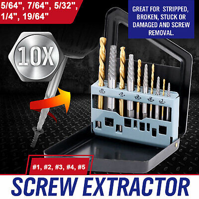 10 pcs screw extractor left hand cobalt