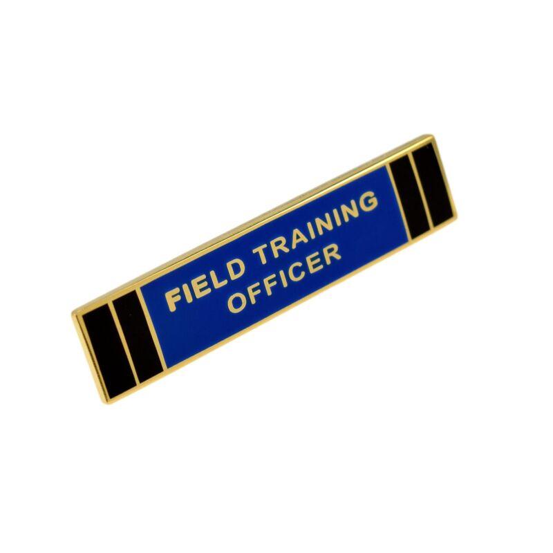 Field Training Officer Citation Bar FTO Police Merit Award Commendation Pin Gold