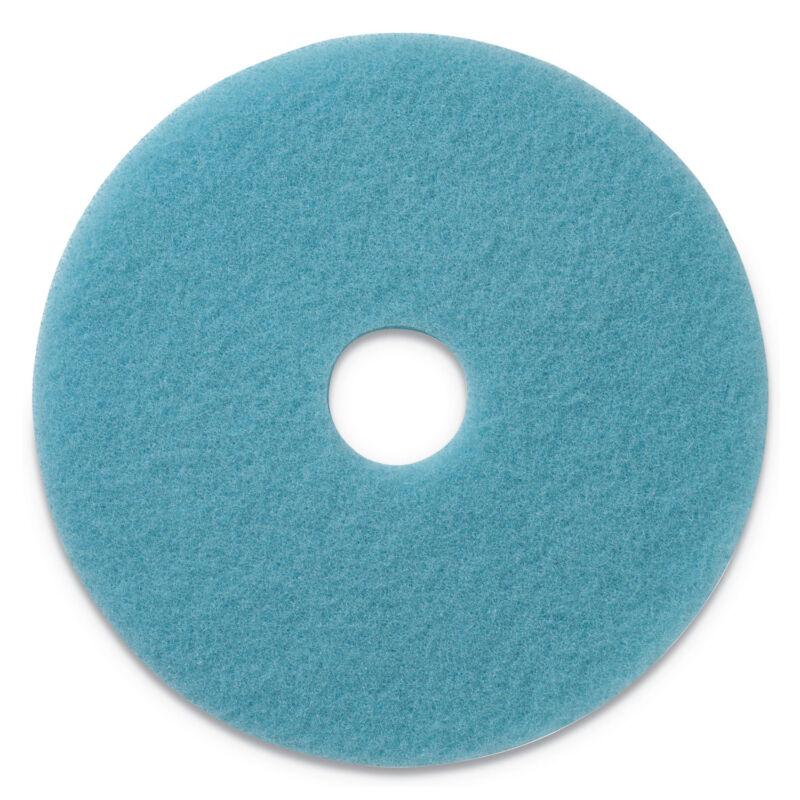"Americo Luster Lite Burnishing Pads, 20"" Diameter, Sky Blue, 5/CT 402120"