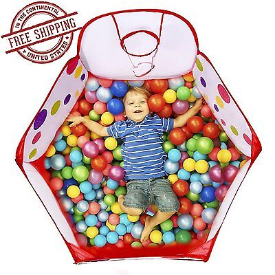 Girls Basketball Bags (Ball Tent Baby Toy Stages Toddler Kids Boys Girls Play Mini Basketball Hoop)
