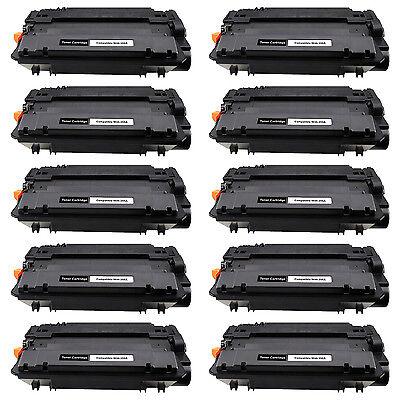 New CE255A 55A For HP LaserJet Enterprise Flow MFP M525c 10 Pack Toner Cartridge