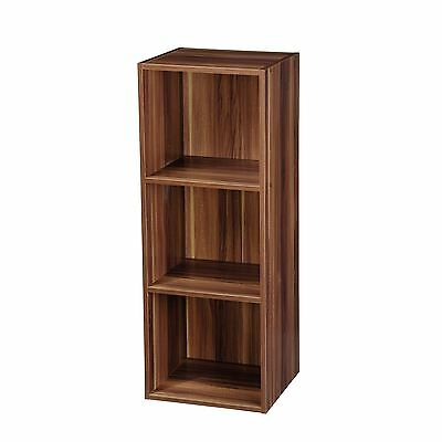Wooden 3 Tier Bookcase Shelving Display Storage Wood Shelf Shelves Unit